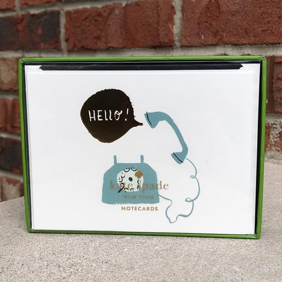 Kate Spade Hello! Foldover Card Set